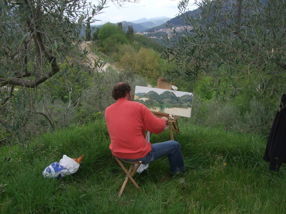 schilderen in het landschap